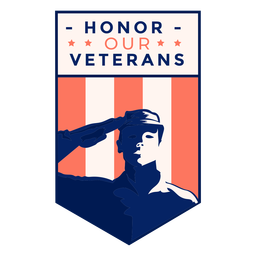 Salute honor veteran badge
