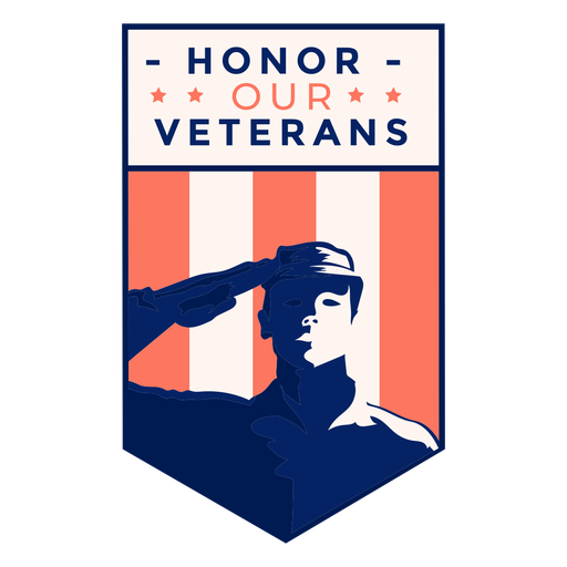 Insignia de veterano de honor de saludo