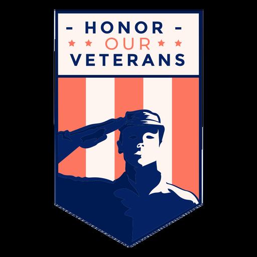 Saludo honor insignia de veterano Transparent PNG