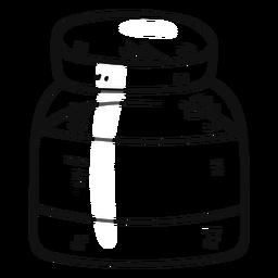Curso de mão desenhada de garrafa pequena