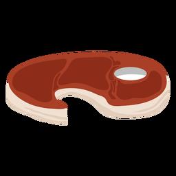 Bife vermelho liso