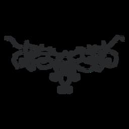 Divisor de espinas remolino ornamental simétrico