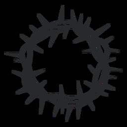 Coroa de espinho redonda