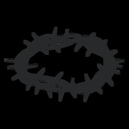 Elipse de coroa de ornamento de espinho