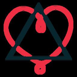 Traingle heart loop adoption symbol
