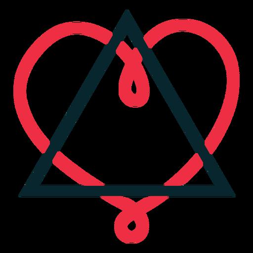 Símbolo de adopción de Traingle heart loop