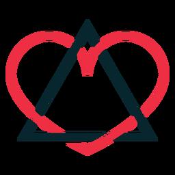 Símbolo de adopción de corazón de triángulo