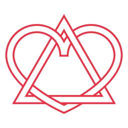 Trazo de símbolo de adopción de corazón de triángulo