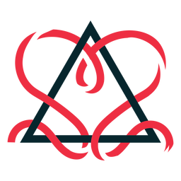 Triangle ribbon adoption symbol