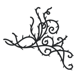 Golpe de espina de remolino ornamental triangular