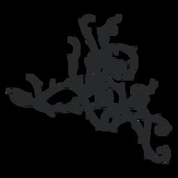 Triangular ornamental swirl thorn stroke