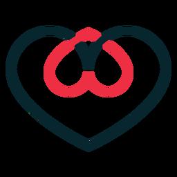 Símbolo de adopción de dos corazones