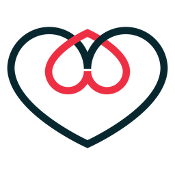 Two hearts adoption symbol
