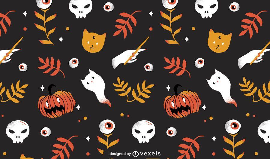 halloween elements pattern design