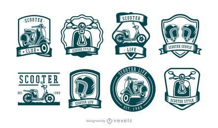 conjunto de insignias de scooter