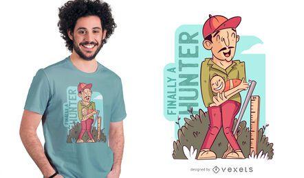 finalmente um design de t-shirt de caçador