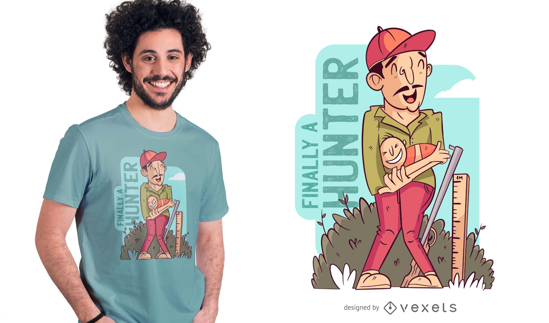 finally a hunter t-shirt design