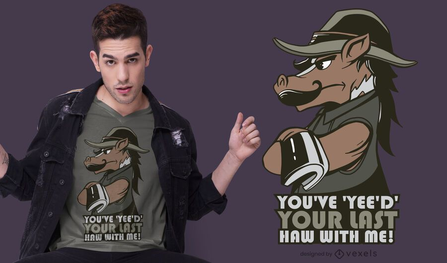 horse yee haw t-shirt design