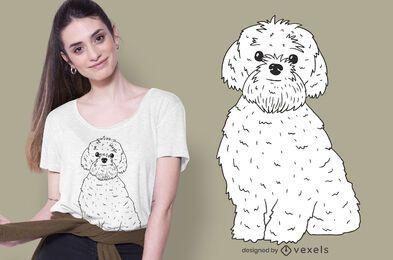 design de t-shirt bolonka zwetna