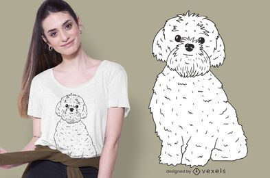 diseño de camiseta bolonka zwetna