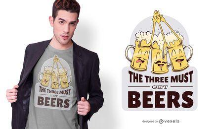 debe obtener un diseño de camiseta de cervezas