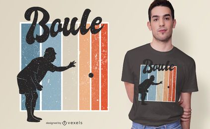 Design de t-shirt do jogo Petanque
