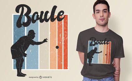 Diseño de camiseta de juego de petanca