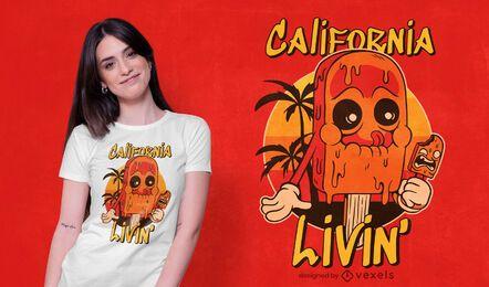 diseño de camiseta de helado de california