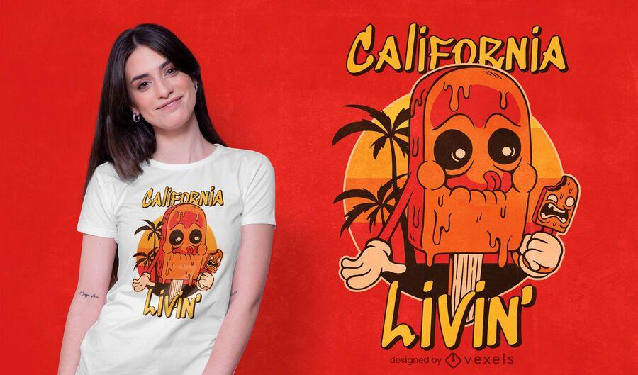 california ice cream t-shirt design