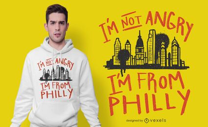 eu sou do design do t-shirt de philly