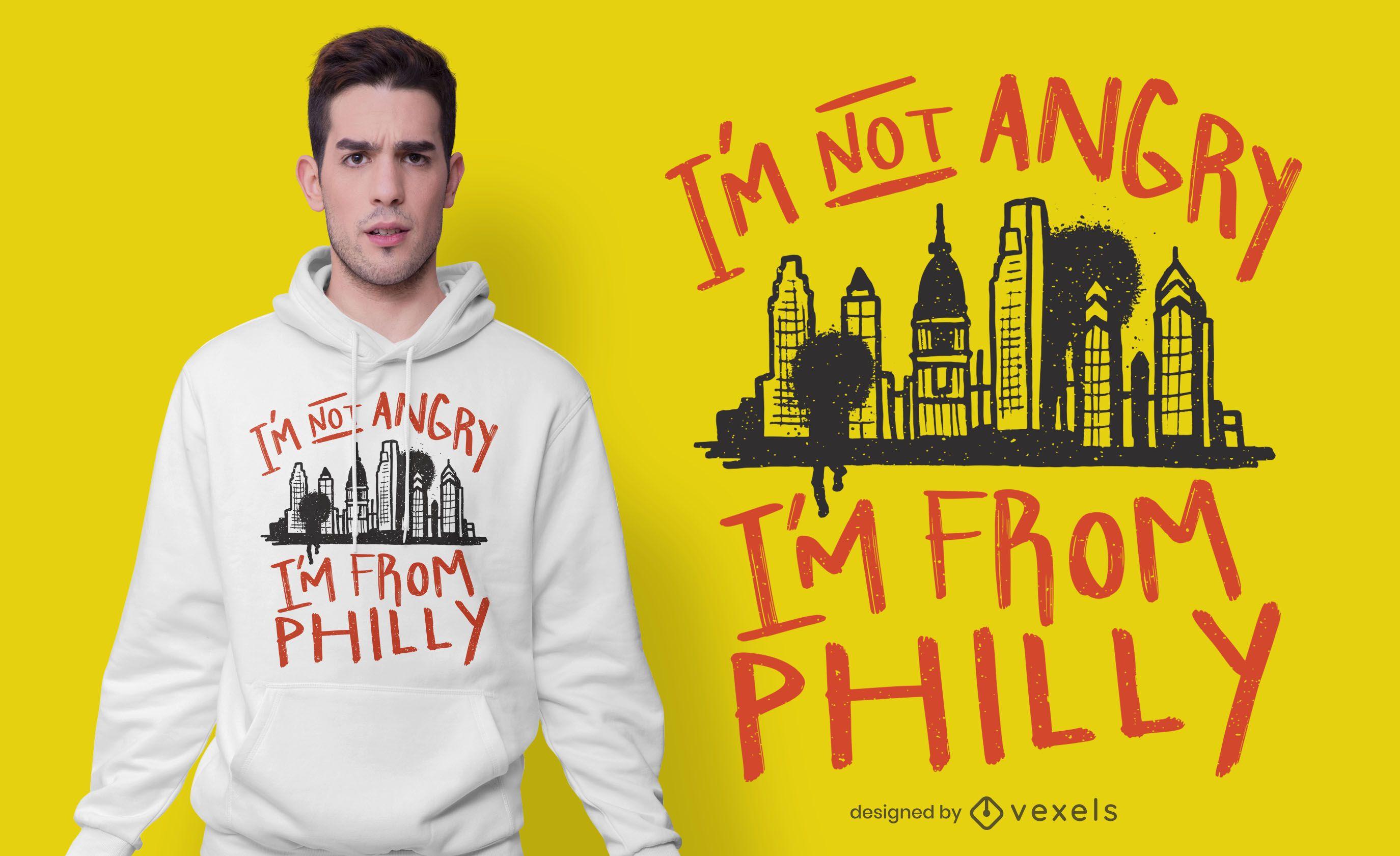 Soy de Filadelfia dise?o de camiseta