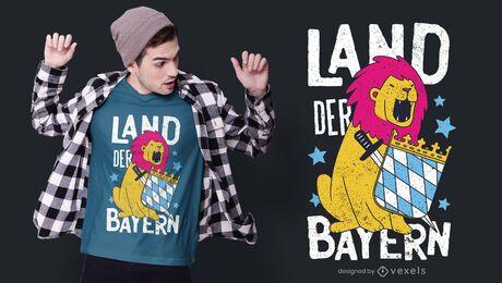Diseño de camiseta alemana Bayern