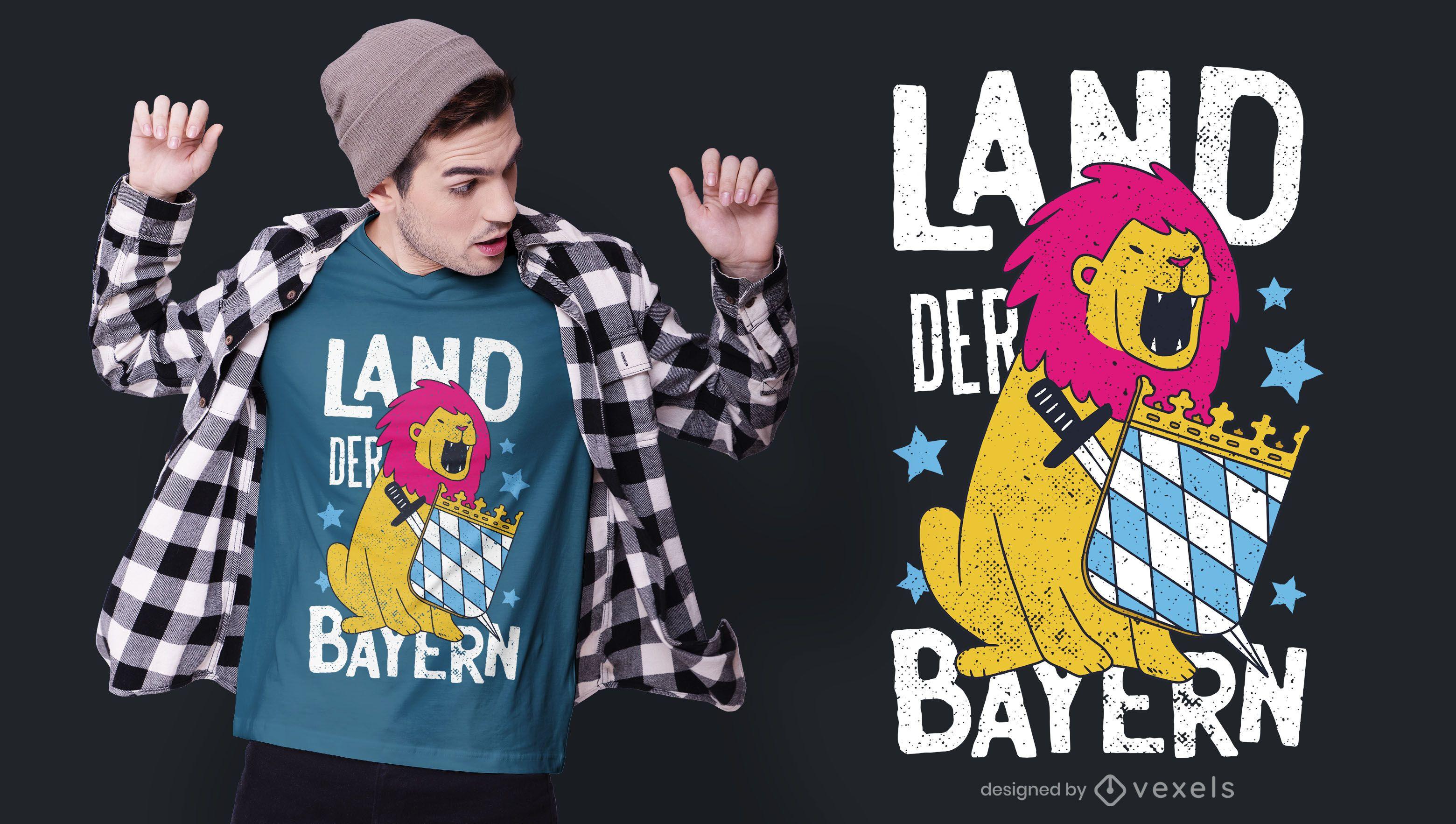 Diseño de camiseta del Bayern alemán