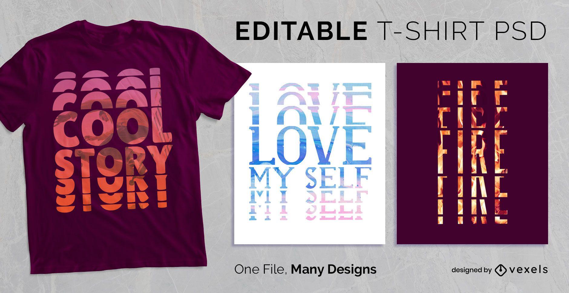 Strobe Text Effekt T-Shirt Design PSD