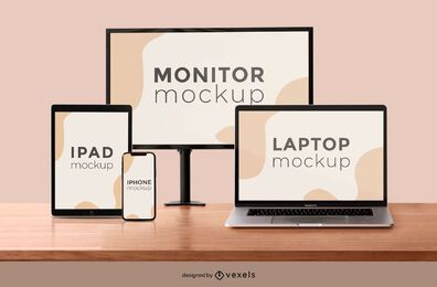 electronic devices screen mockup