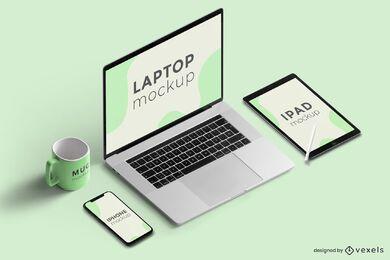 design de maquete de dispositivos eletrônicos