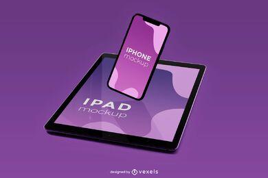 diseño de maqueta de iphone ipad