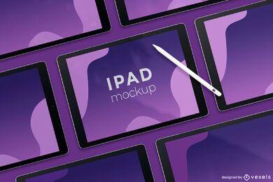 design de maquete de tela ipad