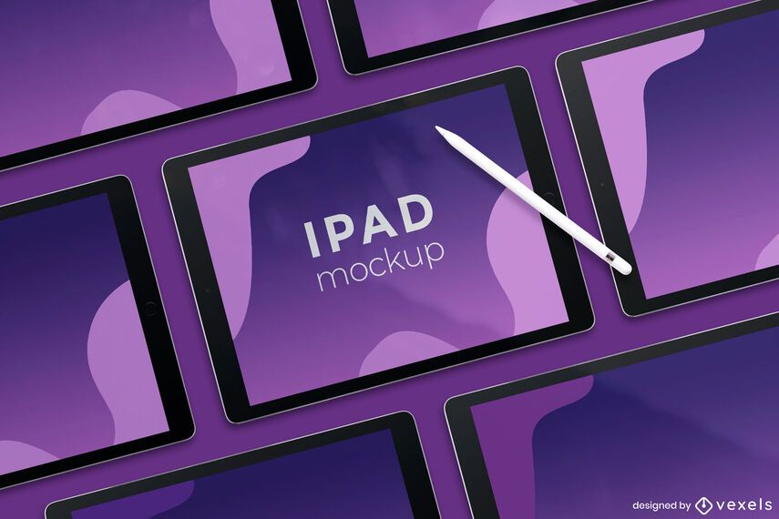 diseño de maqueta de pantalla ipad