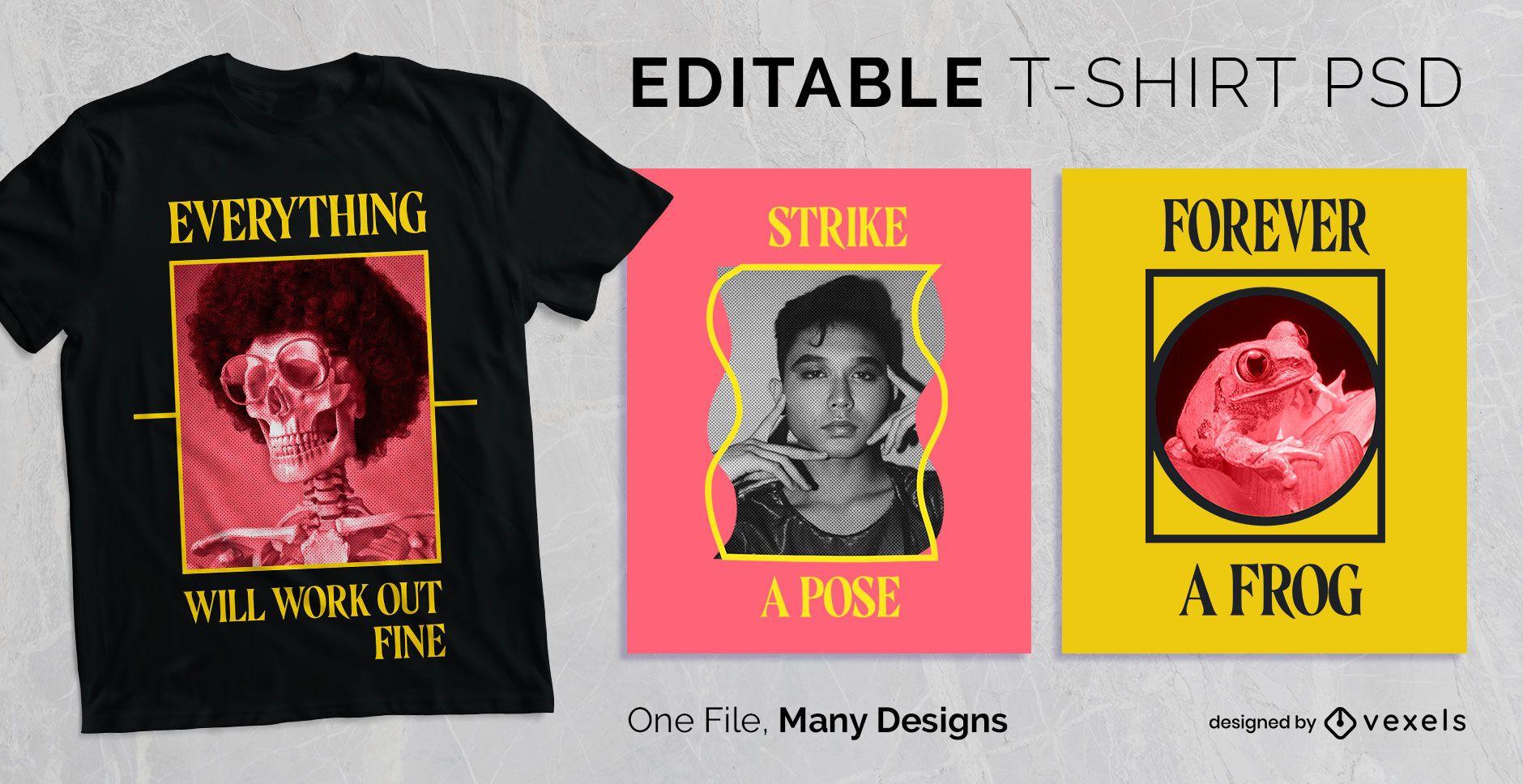 Simple Text Frame T-shirt Design PSD