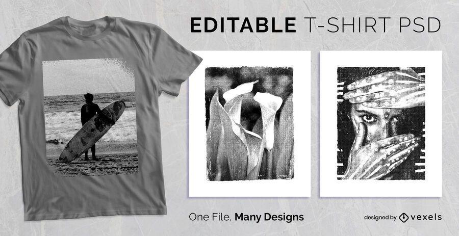 Textured Frame T-shirt Design PSD