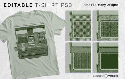 Diseño de camiseta con textura de impresión PSD