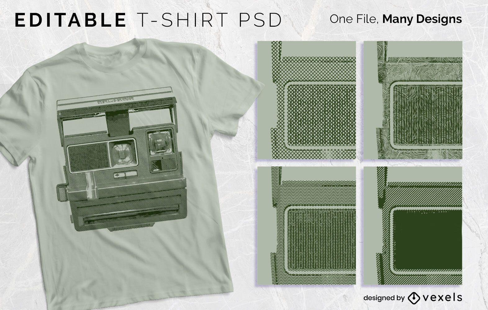 Print Texture T-shirt Design PSD