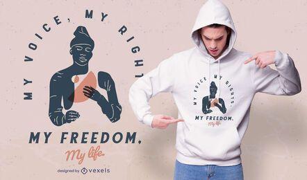 meine Stimme meine Rechte T-Shirt Design