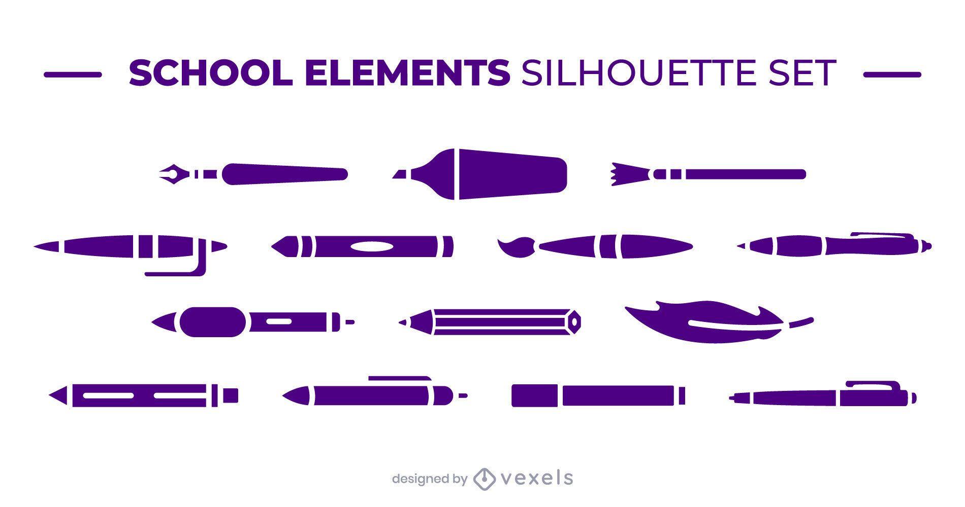 School writing elements set