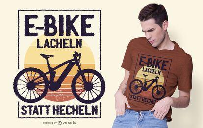 Design engraçado do t-shirt das citações da E-bicicleta