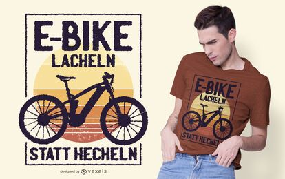 Diseño de camiseta de cita divertida de E-bike