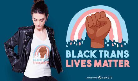 Design de camiseta trans preto vida
