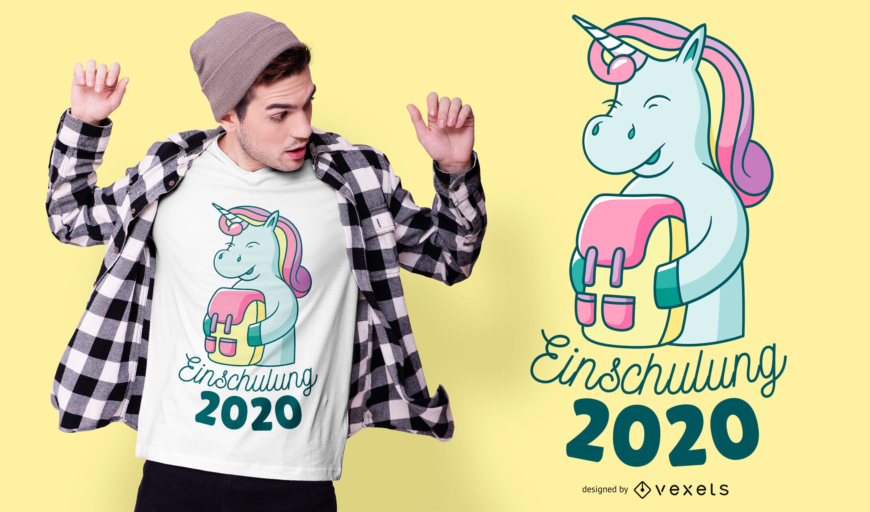 Unicorn school enrollment t-shirt design