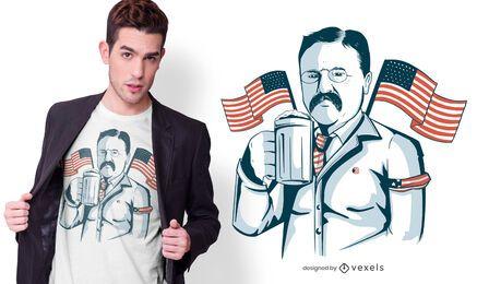 Roosevelt Bier T-Shirt Design